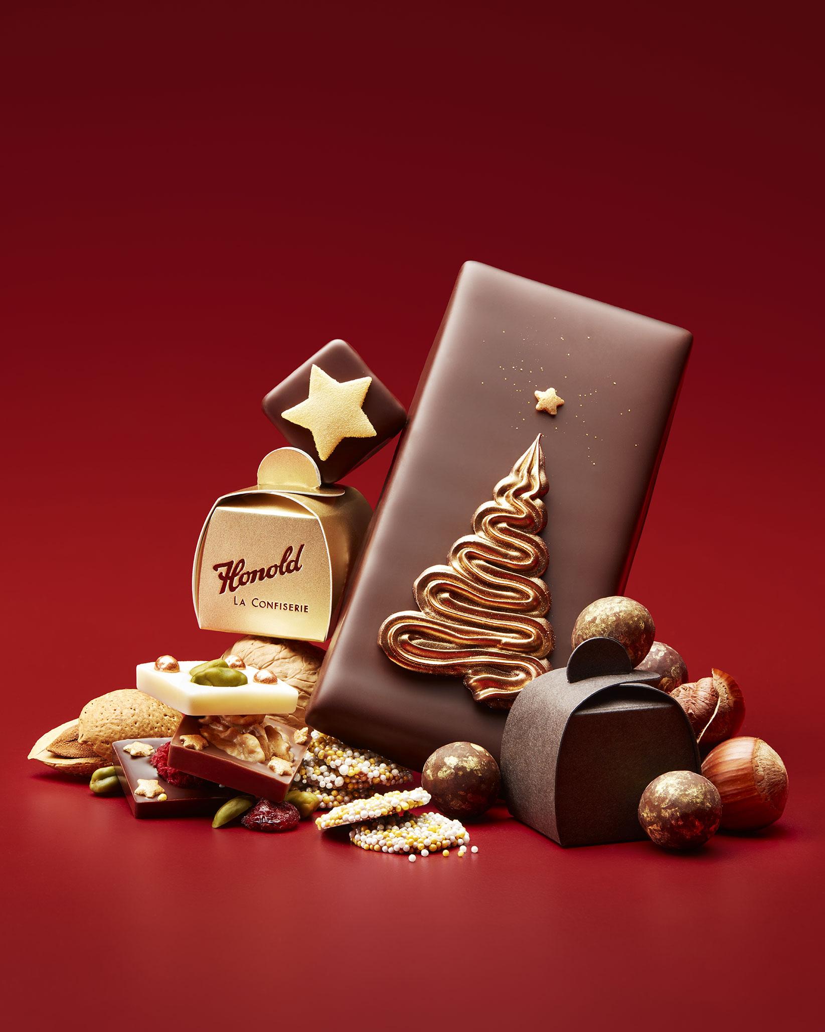 Weihnachtsschokolade zum anbeissen
