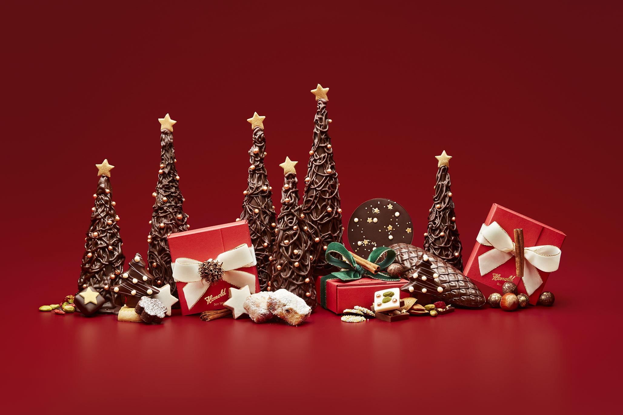 Geschenke und Bäume aus Schoggi